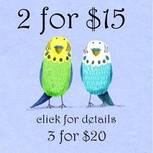 ❤️ *** 2 for $15 or 3 for $20 SALE *** ❤️